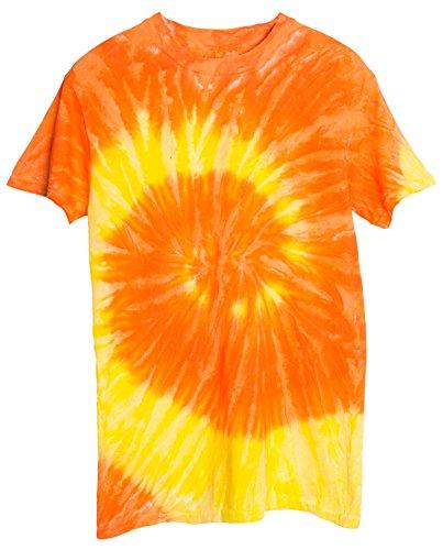 Ragstock Tie Dye T-Shirt, Yellow-and-Orange - XL