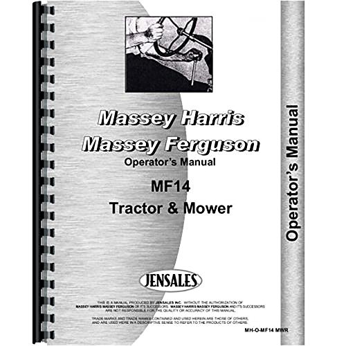 New Massey Ferguson 14 Lawn & Garden Tractor Operators Manual