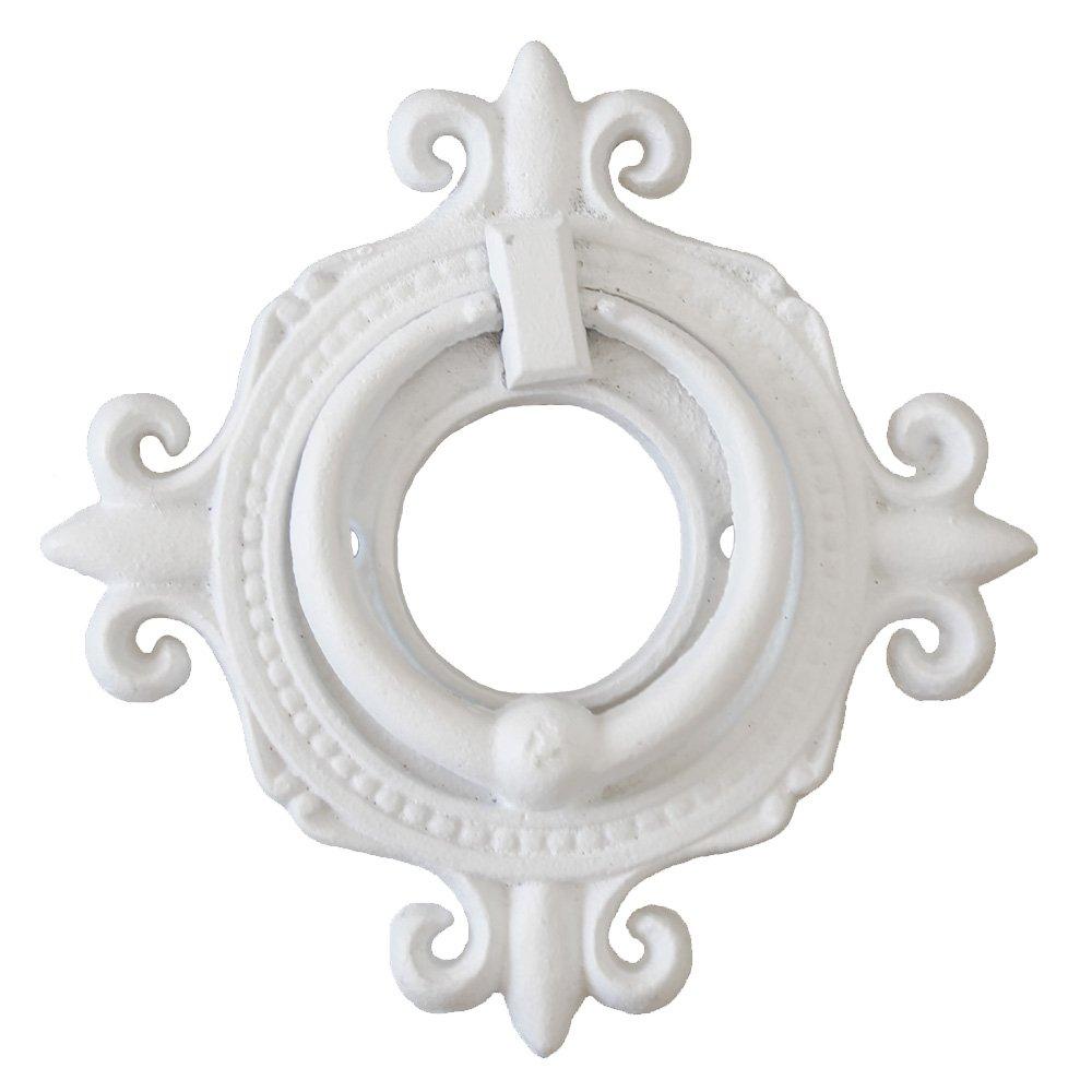 Türklopfer CHATEAU weiß aus Gusseisen antik im französischen Landhausstil Grafelstein