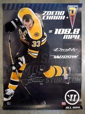 Zdeno Chara Boston Bruins Signed Autographed Warrior Stick Promo Poster