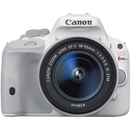 Canon EOS Rebel SL1 Digital SLR with 18-55mm STM Lens (White)