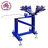 4 Color 1 Station Floor Type Single Color Screen Printing Machine Screen Print DIY T-shirt