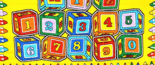 Mybecca ABC Blocks 8' X 11' Kids Learning Rugs Classroom Area Playtime Rug - size approximate ( 7'10'' X 11'3'') by Mybecca (Image #4)