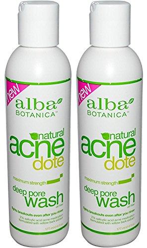 Alba Botanica Natural Acnedote Wash, Deep Pore, Maximum Strength, 6 Oz (Pack of 2)