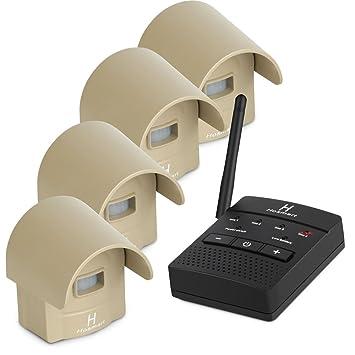hosmart recargable resistente a la intemperie al aire libre sistema de alarma inalámbrico de movimiento/