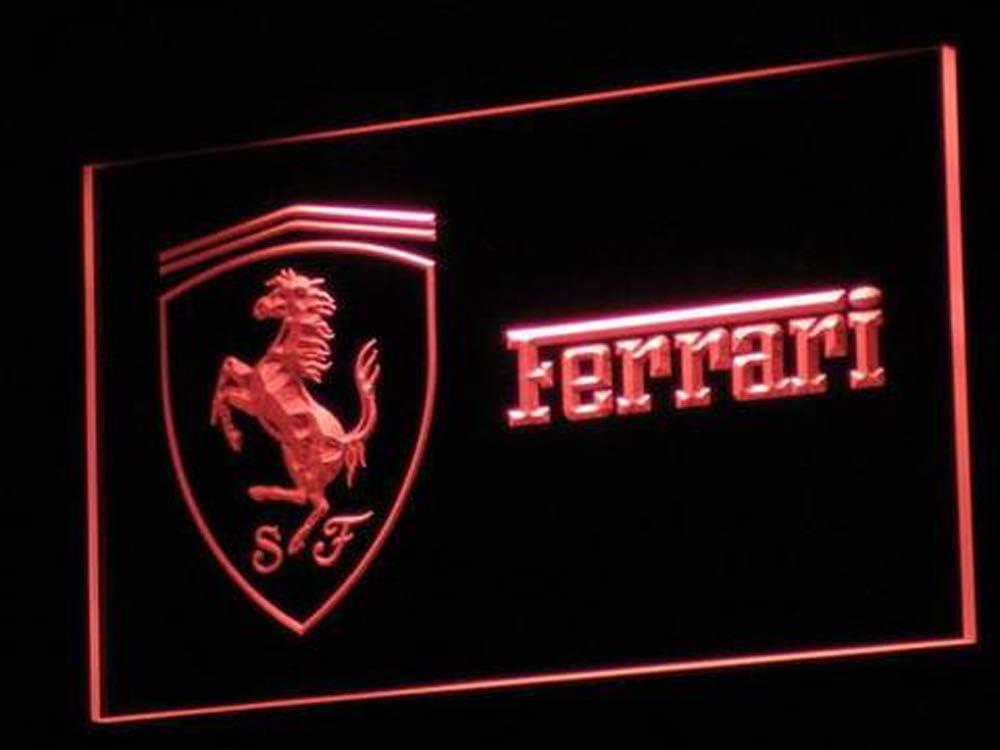 Amazon Com Dimike Ferrari Led Light Neon Sign Red Home Kitchen