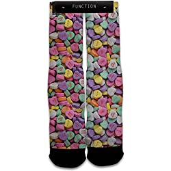 Function - Valentine's Day Candy Hearts Printed Sock