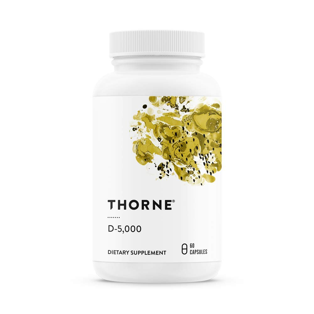 Thorne Research - Vitamin D-5000 - Vitamin D3 Supplement (5,000 IU) for Healthy Bones and Muscles - NSF Certified for Sport - 60 Capsules by Thorne Research