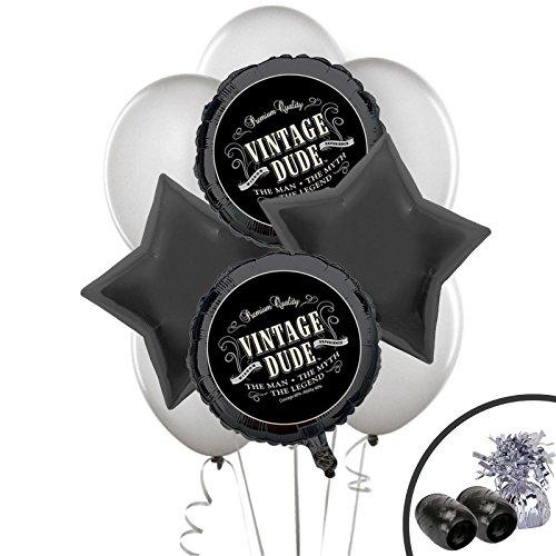 BirthdayExpress Vintage Dude Party Supplies Balloon Bouquet Kit ()