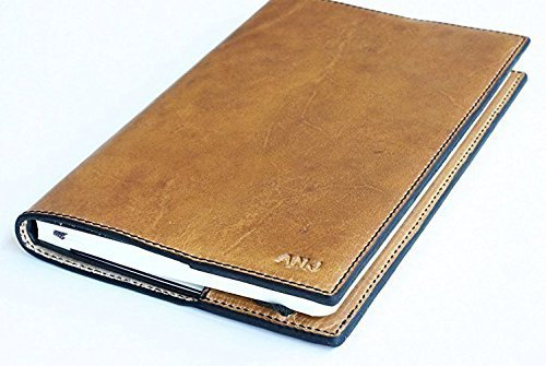 e5eb862e22b9 Personalized Leather Moleskine Classic Refillable Leather Cover Natural  Brown Color Soft Full-Grain Horween Dublin Leather Vintage Journal Embossed  ...