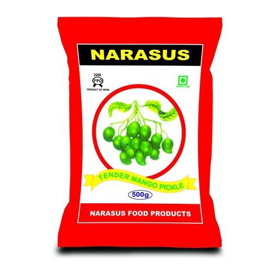 Narasus Tender 500gms + Narasus Garlic Pickle 200gms + Sambar Powder 100gms