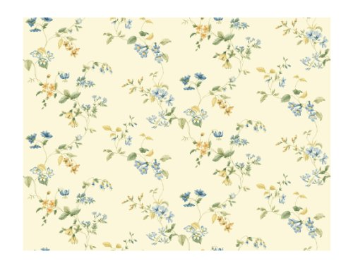 York Wallcoverings Keepsake GP7293 Wild Flower Trail Wallpaper, (Wildflower Wallpaper)