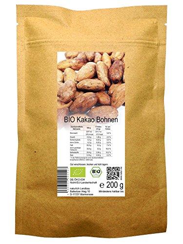 BIO Kakao Bohnen roh 200 g