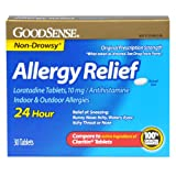 GoodSense Allergy Relief Loratadine Tablets, 10 mg, Antihistamine, 30-Count