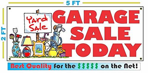 [GARAGE SALE TODAY Banner sign] (Garage Sale Banner)