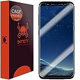 Galaxy S8 Screen Protector (Case Friendly), Skinomi TechSkin Full Coverage Screen Protector for Samsung Galaxy S8 Clear HD Anti-Bubble Film
