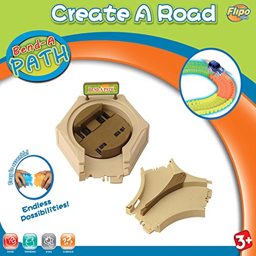 Bend a Path Toy Vehicle Playset Accessory - Turn Table & Y Shaped Switch Expansion Pack with Batteries