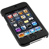Solid Black Rubberized Snap on Crystal Hard Case for Apple Ipod Touch Itouch 8gb 16gb 32gb 2g 2nd Generation