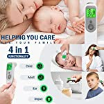 ?New Version?YEARTOWN Medical Forehead and Ear Thermometer, Digital Infrared Temporal Thermometer for Fever, Instant Accurate Reading for Baby Kids and Adults