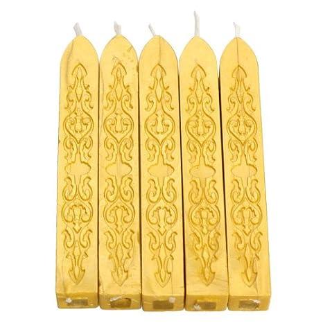5 St/ück JUYUAN-EU Siegelwachs Bunte Kerze Quadratisch Siegellack 5 Stangen Antike Dichtung f/ür Briefe Stick mit Docht Bronze