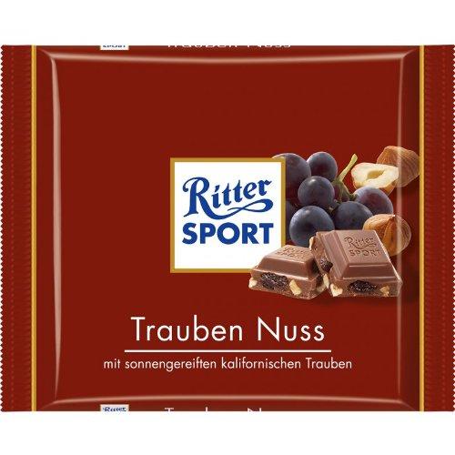 Ritter Sport Trauben Nuss / grape nut (3 Bars each 100g) - fresh from Germany