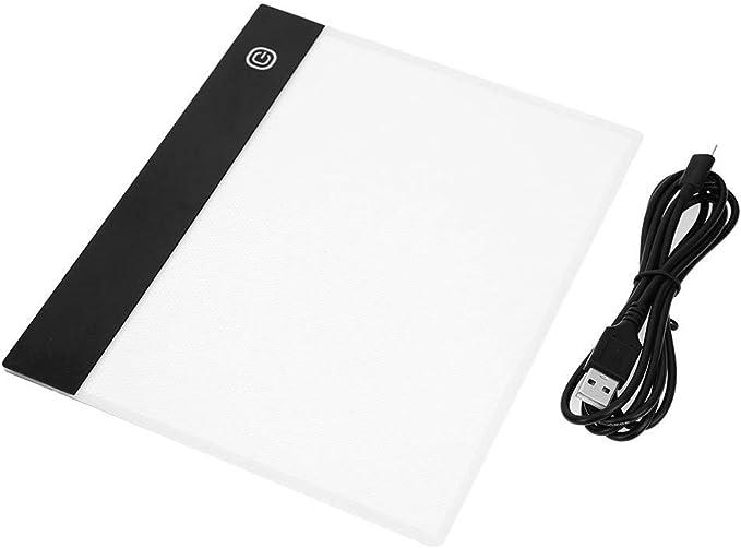 Chidjon - Tablero gráfico LED A5 para marcar Caracteres, Tablero de Letras, Plantilla Luminosa, Tarjeta gráfica, Tablero de Dibujo, Caja de luz 3 Brightness Levels: Amazon.es: Informática