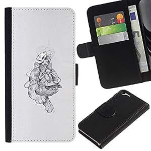 All Phone Most Case / Oferta Especial Cáscara Funda de cuero Monedero Cubierta de proteccion Caso / Wallet Case for Apple Iphone 6 // Abstract Monsters