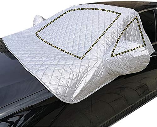 車のカバー半カバー、車のフロントガラスの凍結防止コート四季ユニバーサル防雨防塵冬の霜の雪,L