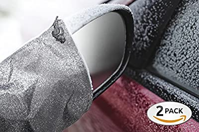 Mirror Snow Cover - Driver and Passenger Side View Wing Auto Mirrors Protector - Exterior Car Accessorie - Large Super Duty - Lightweight - Durable - 10.6 x 9.4 in Fits Most Cars Vans Suv