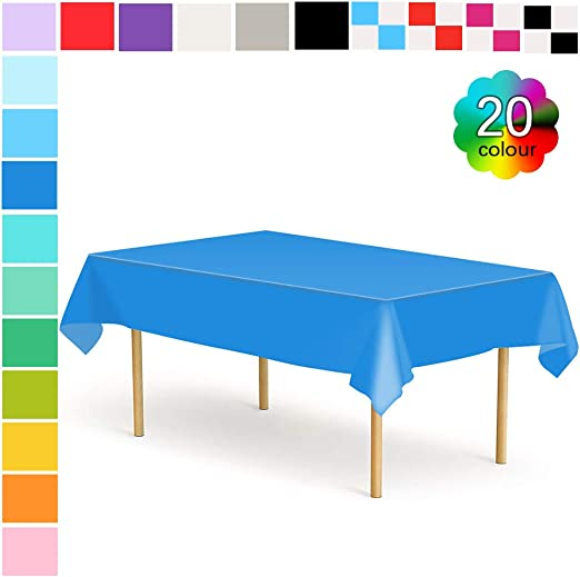Table Cover Plastic Tablecover For Birthday Party Outdoor Parties Dinning Room