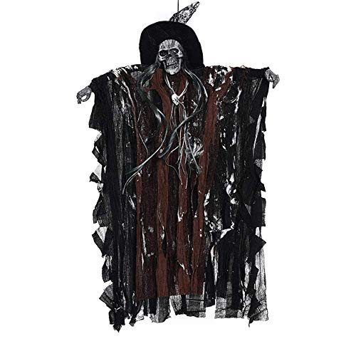 KIKOY Halloween Party Supplies Hanging Ghost Witch Voice Rot Light Eyes Household Bar KTV -