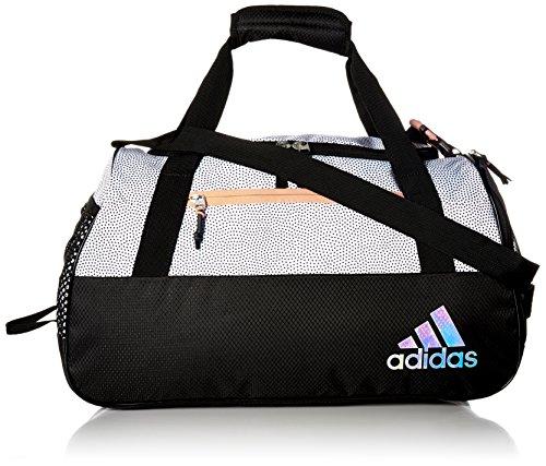 adidas Women's Squad III Duffel Bag, One Size, White Grip/Black/Lucid -