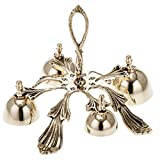 Holyart Church hand bell four sounds golden-plated decorated