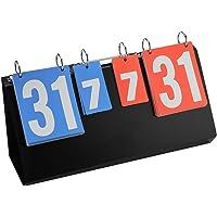 Scorebord-4-cijferig sportcompetitie scorebord voor tafeltennis Basketbal Badminton (blauw en rood)
