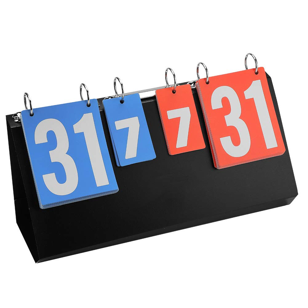 WOVELOT Multi-Purpose Sports Three Digit Flip Scoreboard for Knowledge Contest.