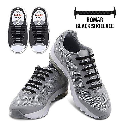 Homar Adult Elastic Athletic Flat No Tie Shoelaces - Best