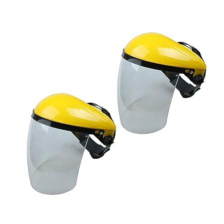 MagiDeal 2 Pieces Full Face Shield   Visor Hat Hedge Cutting Eye Protective  Helmet  Amazon.co.uk  DIY   Tools 60fed8b0650
