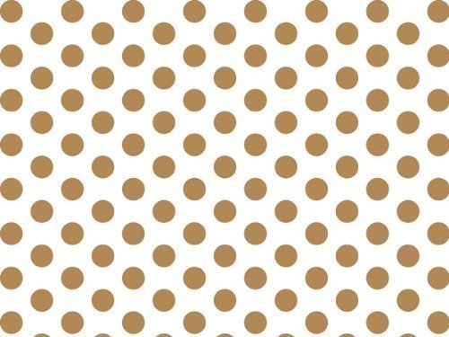 Gold and White Polka Dots Tissue Paper 20 Inch X 30 Inch - 48 Sheets
