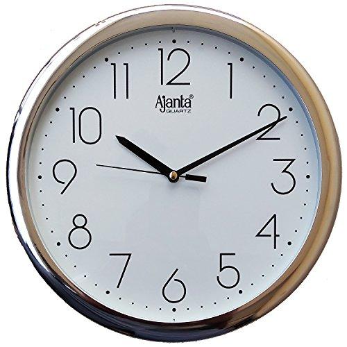 Ajanta Plastic Abstract Quartz Wall Clock – Model No.957 (260mm x 260mm x 33mm, Ivory )