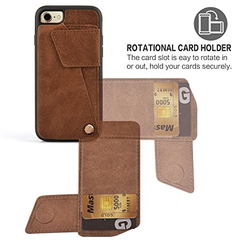 iPhone 7 Wallet Case, ZVEdeng iPhone 8 Card Holder Case ...