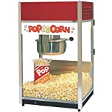 ''Ultra'' 60 Popper Popcorn Machine, 18''W x 16''D x 31''H, 6 ounce E-Z Kleen kettle, twin arm doubl...