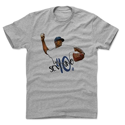 500 LEVEL's Luis Severino Brush B New York Y Baseball Men's Cotton T-Shirt M Heather Gray Officially Licensed by the Major League Baseball Players Association (MLBPA)