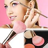 Rose Gold Makeup Brushes Powder Blusher Foundation Eyeshadow Cosmetics Set 12Pcs