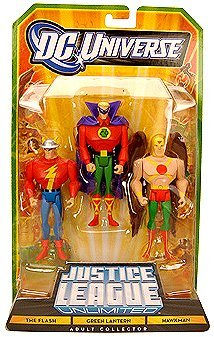 DC Universe Exclusive Justice League Unlimited Fan Collection Action Figure 3Pack The Flash, Green Lantern Hawkman