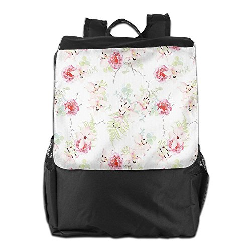 Newfood Ss Lily Flowers Bouquet With Rose And Fern Blooms Botany Pastel Design Outdoor Travel Backpack Bag For Men And Women
