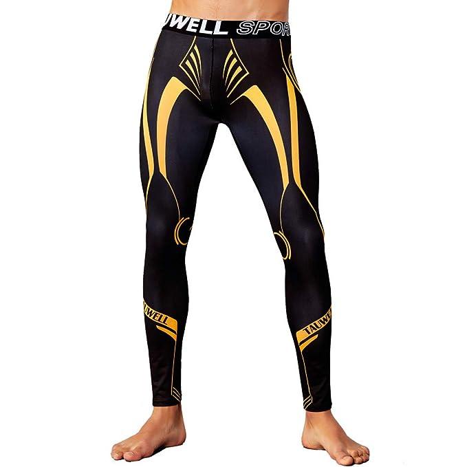 Leggins Hombres Deporte Pantalones Deportivos de Colores para Hombres Pantalones Transpirables de Secado rápido Leggings térmicos Running Yoga Fitness