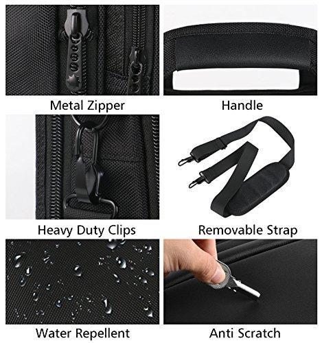 17 inch Laptop Bag,Expandable Briefcase Large Capacity Computer Bag for Women & Men,Oxford Nylon Fabric Shoulder Bag, Water Resistant Durable Messenger Bag Case for HP DELL 15 15.6 inch Laptop -Black by Ytonet (Image #3)
