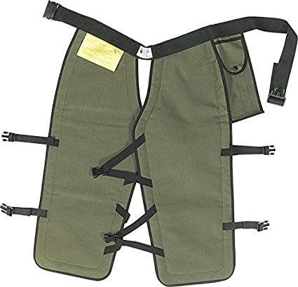 "Sawbuck Four-Ply Para-Aramid Chain Saw Chaps Green 32"" Long"
