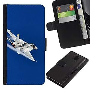 Paccase / Billetera de Cuero Caso del tirón Titular de la tarjeta Carcasa Funda para - FA fighter - Samsung Galaxy Note 3 III N9000 N9002 N9005