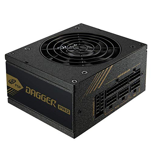 FSP Dagger Pro 650W Mini ITX Solution/SFX 12V / Micro ATX 80 Plus Gold Certified Full Modular VR / 4K Ready Gaming Power Supply (SDA2-650)